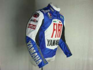 D082 YAMAHA R1, R6 MOTORCYCLE BIKERS RACING JACKET WITH PADS BLUE M/L