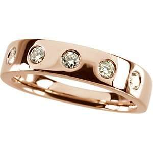 14 Karat Rose Gold Diamond Stackable Ring Diamond Designs Jewelry