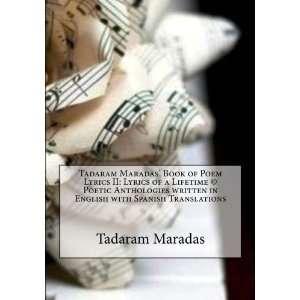 Tadaram Maradas Book of Poem Lyrics II Lyrics of a