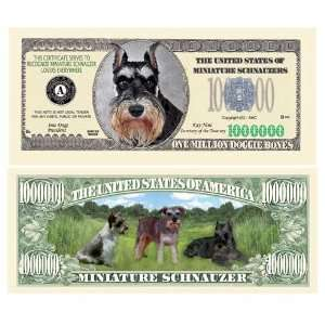 SET OF 5 BILLS MINI SCHNAUZER MILLION DOLLAR BILL Toys & Games