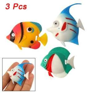 Como Aquarium 3 Pcs Colorful Plastic Tropical Fish Decor