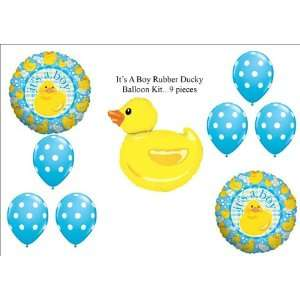 Boy Rubber Ducky Duckie BABY Shower Balloons Decorations Supplies