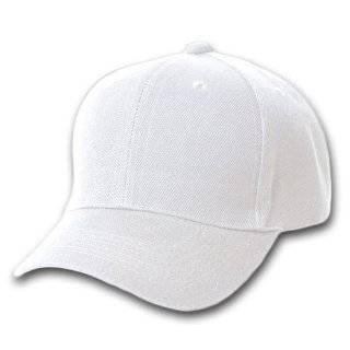 Blank / Plain Adjustable Velcro Baseball Cap / Hat   White