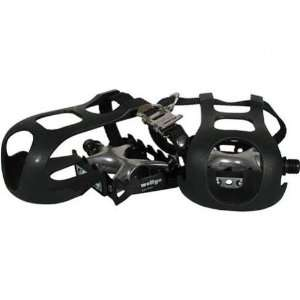 Wellgo Sport Combo Set with Toe Clip/Straps Road Bike Pedals