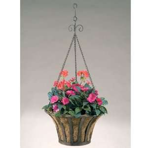 Wrought Iron Solera Hanging Basket Planters with Coco