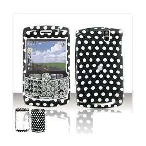 BlackBerry 8330 8310 8320 8300 Cell Phone Black/White Polka Dot