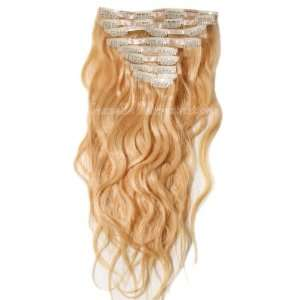 Head Clip In Brazilian Wavy/Curly Human Hair Extensions   Colour #613