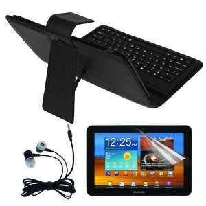 Premium in built Bluetooth Keyboard Leather Case + Clear