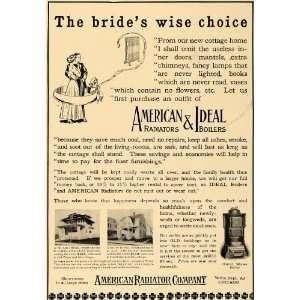 1909 Ad Bride American Radiator Company Water Boilers