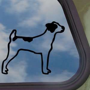 Jack Russell Dog Black Decal Car Truck Window Sticker
