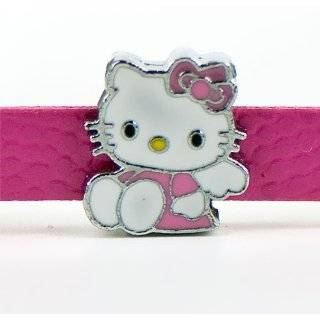 ~Hello Kitty~ Girls Pink Leather Charm Bracelet  Children