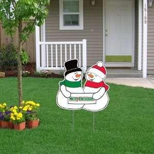 Christmas Snowman Lawn Display   Yard Sign Decoration
