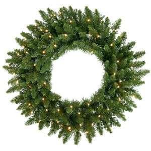 60 LED Lighted Camdon Fir Artificial Christmas Wreath   Warm White
