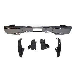 YUKON / TAHOE REAR SETP BUMPER BAR CHROME & 4 BRACKET NEW Automotive