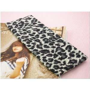 Grey Leopard Animal Print Stretchy Hair Band for Women or Girl Fashion