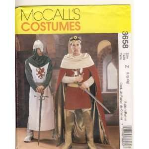 McCall Sewing Pattern   3658   Use to Make   Mens Camelot Costumes