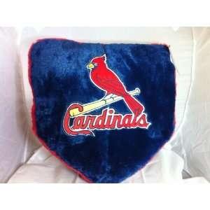 St Louis Cardinals Baseball Home Plate Pillow