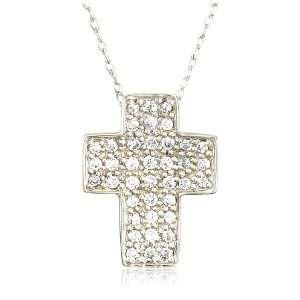 Gold Diamond Cross Pendant (1/3 cttw, I J Color, I3 Clarity) Jewelry