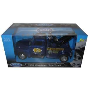 1953 Chevrolet 3800 Tow Truck Blue 124 Model Car  Toys & Games