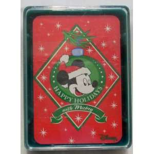 Disney Mickey Mouse Miniature Deck of Playing Cards Red