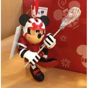 Disney Mickey Mouse La Crosse Figurine Ornament