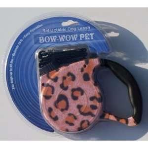 Leopard Print Retractable Dog Leash