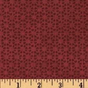 44 Wide Paper Dolls Textured Floral Raspberry Fabric By