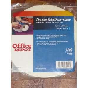 Office Depot Brand Double sided Foam Tape, 1 roll (3/4 x