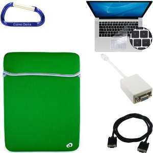 MacBook Pro / MacBook Air 13.3 Inch Black / Green Laptop Carrying Case