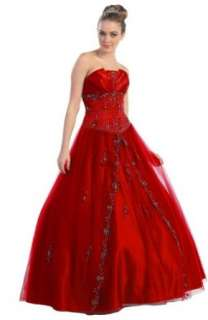 Ball Gown Formal Prom Strapless Wedding Dress #2665 Clothing