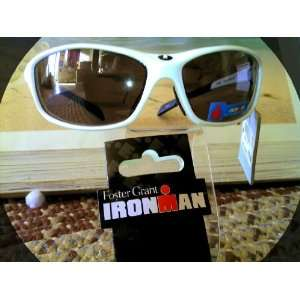 White Foster Grant Ironman Perseverance Sunglasses with Eyeglasses