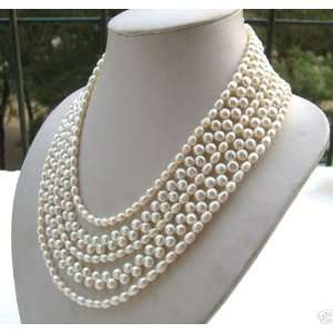 Strands White Freshwater Pearl Necklace Arts, Crafts & Sewing