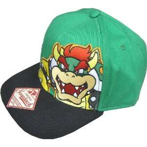 Bioworld Nintendo Super Mario Green Bowser Snapback Hat Toys & Games