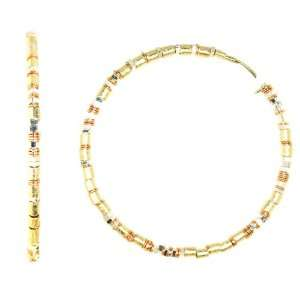 Creative Brazil 18k Gold and Rose Gold Plated Sterling Silver Beaded