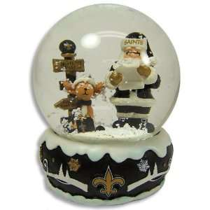 NEW ORLEANS SAINTS OFFICIAL LOGO HOLIDAY SNOW GLOBE