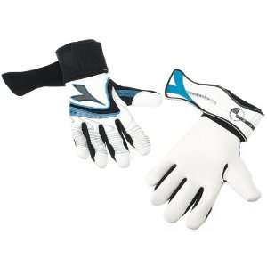 Diadora Olympico Goal Keeper Glove (Size 10, White/Blue/Black)