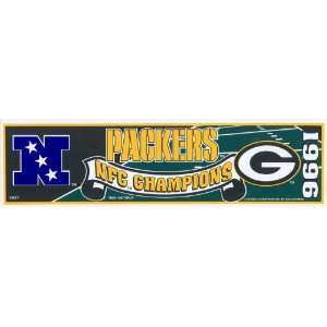 Green Bay Packers 1996 NFC Champions Bumper Sticker Strip