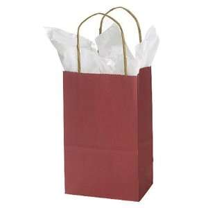 Small Red Paper Shopping Bags   5.25 X 3.5 X 8.25