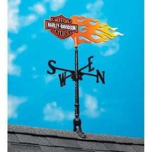 Harley Davidson Flame Garden Weathervane