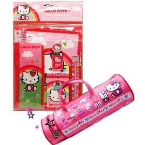 com Hello Kitty 11 Pcs Stationery Set + Pink Pencil Bag, Hello Kitty