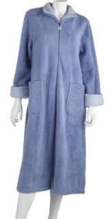Stan Herman Womens Microlush Zip Robe Clothing