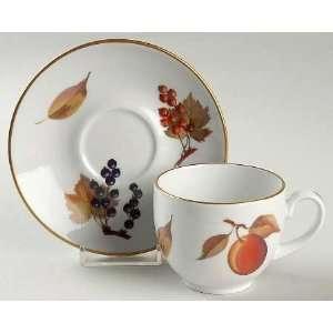 Royal Worcester Evesham Gold (Porcelain) Demitasse Cup and Saucer Set