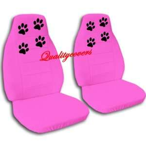 hot pink car seat covers with paw prints for a 2009 Chevy Cobalt