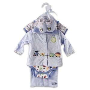 & Simon 7 piece Blue Baby Layette Gift Set On Hanger For Boys Baby