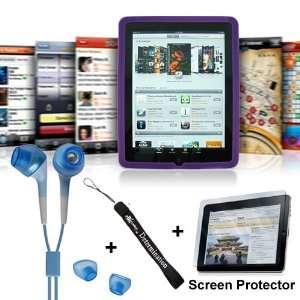 Apple iPad Purple Silicon Skin Case + Includes a 4 inch