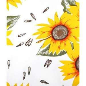 Natural Sunflower Oilcloth Fabric: Arts, Crafts & Sewing