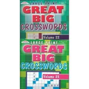 Kappa Large Print GREAT BIG Crosswords Set of 4 (Volumes