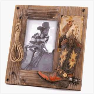 Weathered Western Photo Frame For 4 x 6 photo: Home & Kitchen