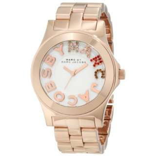 Marc by Marc Jacobs Ladies Rose Gold Rivera Logo Watch