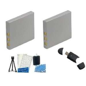 Kit Includes 2 Replacement Extended LI 70B Batteries + LCD Screen
